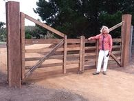 These wooden gates are normally used as a pair and are handcrafted to be long lasting as well as beautiful, adding value to your property. Timber Gates, Wooden Gates, Farm Entrance, Entrance Gates, Driveway Gate, Fence Gate, Cattle Gate, Country Fences, Farm Gate