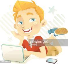 Vector Art : Teen Blogger (Chatty Boy)