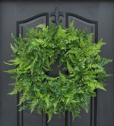 XL Spring Wreaths, Summer Wreaths, Boxwood, XL Fern and Burlap Bow for Year Round, Year Round Wreaths, Etsy Wreaths, Mother's Day