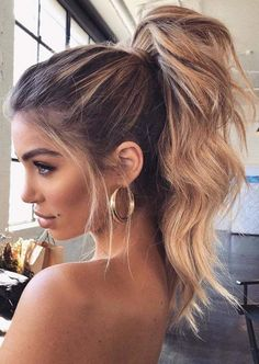 hair trends These Winter Hairstyles Will Take Your Breath Away - Prom hair - Winter Hairstyles, Easy Hairstyles, Wedding Hairstyles, Pretty Hairstyles, Messy Ponytail Hairstyles, Hairstyle Ideas, Formal Hairstyles, High Pony Hairstyle, School Hairstyles