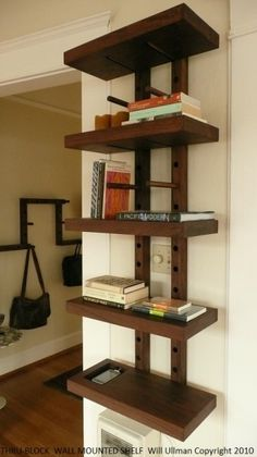 Thru-Block Shelving : will ullman design + art Home Decor Furniture, Furniture Making, Wood Furniture, Furniture Design, Diy Wood Projects, Home Projects, Wooden Shelves, Floating Shelves, Modular Shelving