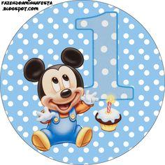First Year of Mickey with Polka Dots: Free Printable Candy Bar Labels. Festa Mickey Baby, Theme Mickey, Mickey E Minie, Fiesta Mickey Mouse, Mickey Mouse 1st Birthday, Mickey Mouse Parties, Mickey Party, Boy Birthday, Disney Mickey