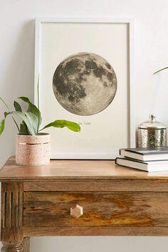 Urban Outfitters Merci Merci La Lune Art Print