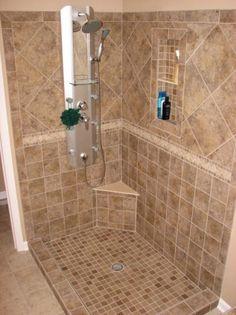 Tile Bathroom Shower - potential pattern for basement bathroom