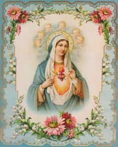 Immaculate Heart of Mary O Immaculate Heart of Mary, Heavenly beauty and splendor of the Father, You are the most valued Heavenly treasure. Mother Of Christ, Blessed Mother Mary, Divine Mother, Blessed Virgin Mary, Jesus Christ, Religious Pictures, Religious Icons, Religious Art, Religion