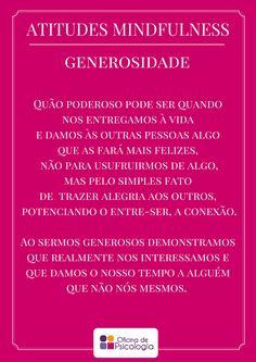 Atitude mindful: generosidade