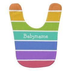 Rainbow Colors custom baby bib #baby #bibs