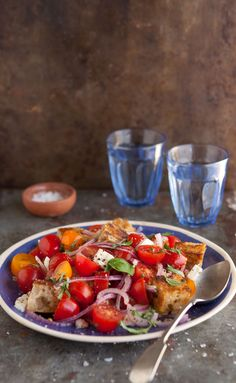 Panzanella caprese salad for summer | Drizzle and Dip