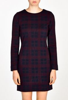 Maya Plaid Long Sleeve Dress by Marc By Marc Jacobs