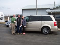 Mr. Bill Burt from LaHarpe with his granddaughter. Thanks Bill and Judy Burt, 2013 Chrysler Town & Country.