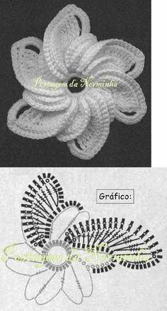 Interesting flower for Irish Crochet or as an embellishment.