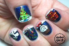 Charlie Brown Christmas Nail Art