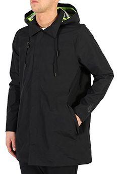 1d8465db5c0166 Nike Men s Long Hypershield Black Running Rain Jacket   Coat  size small  (small