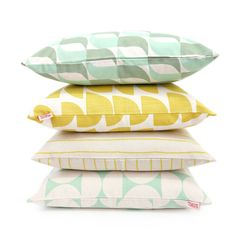Mint and Lemon cushion covers by Skinny laMinx add a fresh and light feel to your home. See the full collection of cushion covers in the Skinny laMinx online store. Featured are the new 'Aperture' and 'Breeze' designs from the BRISE SOLEIL collection.