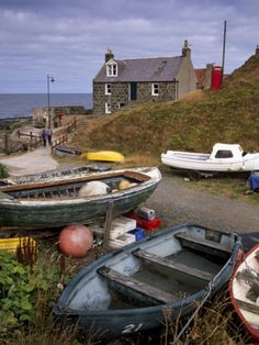 Crovie, Tiny Fishing Village, North Coast, Aberdeenshire, Scotland, United Kingdom, Europe