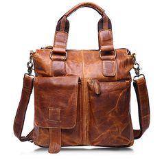 969bddd59549 Ekphero Retro Genuine Leather Crossbody Bag Dual-use Handbag Big Capacity  Shoulder Bag For Men is worth buying - NewChic Mobile