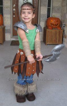 Astrid: Viking Dragon Warrior Costume Homemade for Preschool Age… Halloween Costume Contest