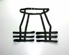 2014 SEXY Custom Black Unisex Thigh Three Strap Leg Garter Belt Cage Harness / Any Size / Made to Measure(China (Mainland)) Lingerie Design, Lingerie Set, Body Chains, Fashion Design Inspiration, Ideias Diy, Diy Clothing, Diy Fashion, Steampunk Fashion, Gothic Fashion