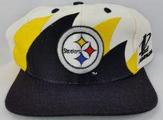 Pittsburgh Steelers Vintage Snapback Logo Athletic Double Sharktooth Hat  NFL Cap Nfl Caps d9c5c53b5