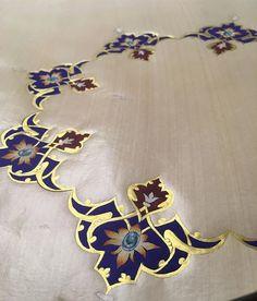 Şükür kavuşturana...İki aylık aradan sonra tekrar iş başında #tezhip #tezhib #islamicart #islam #islamic #gelenekselsanatlar #geleneksel #osmanlı #sanat #art #galery #handmade #insta #instalike Arabic Calligraphy Art, Arabic Art, Islamic Art Pattern, Pattern Art, Hamsa Design, Illumination Art, Arabesque Pattern, Persian Motifs, Turkish Art