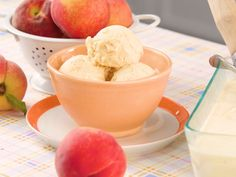 Fresh Peach Ice Cream Recipe | This vintage frozen custard gets its divine richness from evaporated milk and sweetened condensed milk. Both were once popular in the South because they required no refrigeration. Egg safety issues arose in the 80s (after this recipe was originally published) and prompted us to use only cooked custards as an ice-cream base. Today, pasteurized eggs are widely available and eliminate concern.