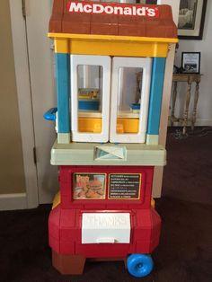 Fisher Price McDonalds Play Set 1980's Good Used Condition + plus original food+ #FisherPrice