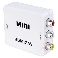 Everydaysource White Mini HDMI to 3RCA Composite AV Converter EverydaySource http://www.amazon.com/dp/B0092KN0AG/ref=cm_sw_r_pi_dp_g4-1tb1K0DQP0K0K