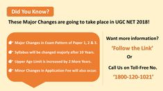 Are you going to appear for UGC NET Mark these major changes. Net Exam, Entrance Exam, Study Tips, Did You Know, Paper, College Organization