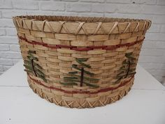 Christmas Tree Basket - Baskets by Emily
