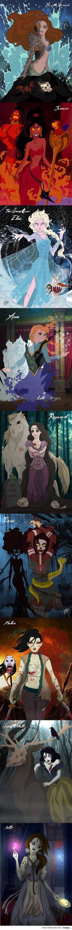 Zombie księżniczki disneya