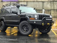 Jeep Commander Version 2 winch style bumper with recessed light mounts shackle mounts DOM intermediate style grill guard Jeep Xj, Jeep Rubicon, Jeep Truck, Custom Jeep, Custom Trucks, Jeep Commander Accessories, Jeep Commander Lifted, Jeep Liberty Lifted, Jeep Baby