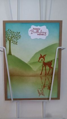 Stampin Up Forest Friends retired stamp set,  Petite Pairs Stampin Up. Made by Willemijn Gort