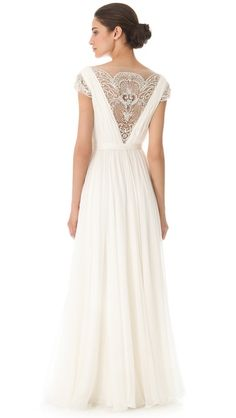 Reem Acra Goddess Gown - repinned by favorite follower Marcela Andrade