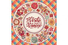 Free Vesele Vanoce Christmas Greeting Card Congratulations On Czech Language Warm Wishes For Happy Holidays Best For Greeting Card Promotion English Translation: Merry Christmas Crafter File – Free SVG Cut Files Christmas Logo, Christmas Greeting Cards, Christmas Greetings, Merry Christmas, Spanish Christmas, French Christmas, Illustrations, Graphic Illustration, Noel French