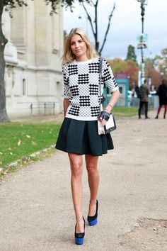 Paris Street Style- heavy gather skirt