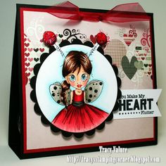 Tracy's Stamping Corner: You Make My Heart Flutter...Treat Bag