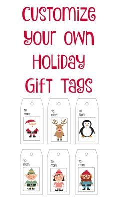 Printable, Customizable Gift Tags and Free Template Downloads #WrapGiveRepeat #ad @walmart