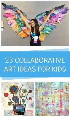 23 genius collaborative art ideas for kids!
