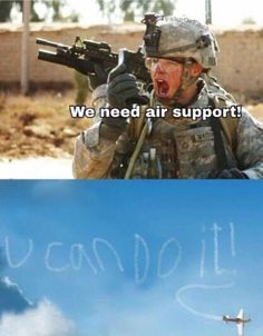 We need air support !! - You can do it :))