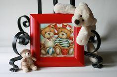 Méďové+na+pláži+Nabízím+Vám+obrázek+vyrobený+technikou+decoupage+v+dřevěném+rámečku.+Přelakováno+pro+snadnou+údržbu.+Opatřeno+háčkem+na+zavěšení.+Předmětem+prodeje+je+1+ks+obrázku+v+profilovaném+rámečku+šířky+4,5cm+v+červené+barvě,+který+je+zobrazen+na+úvodní+fotografii.+K+dispozici+jsou+i+jiné+barvy+rámečků+(bílý,+hnědý,+zelený,+žlutý,+modrý,+...