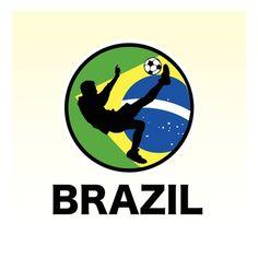 Brazil Soccer Impressão giclée