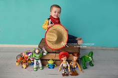 Toy Story Themed Smash Cake Session - Footsteps Photography, Child Photographer near RAF Mildenhall