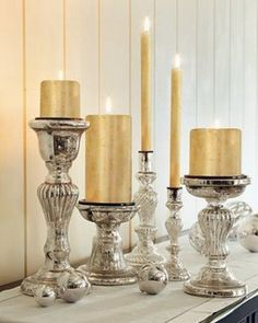 Beautiful mercury glass...how to find it, use it, decorate it, even create your own. Find out how to use mercury glass for decor for your vintage wedding.