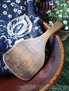 Antique Primitive Wooden Butter Paddle ~ See the whole collection!