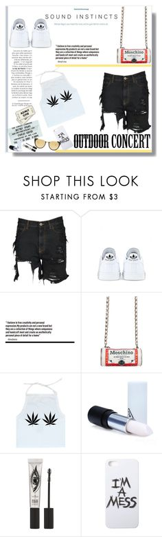 """60 Second Style: Outdoor Concerts"" by emcf3548 ❤ liked on Polyvore featuring Nico, Faith Connexion, Britney Spears, adidas, Moschino, 3 Concept Eyes, Eyeko, LAUREN MOSHI, Linda Farrow and 60secondstyle"