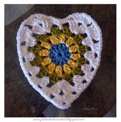 Crochet granny heart ♥LCH♥ with diagram