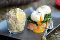 Rillettes of local freshwater trout with poached eggs and sourdough toast