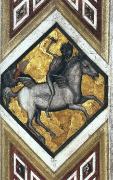 GIOTTO di Bondone Horseman of the Apocalypse c. 1320 Fresco Lower Church, San Francesco, Assisi