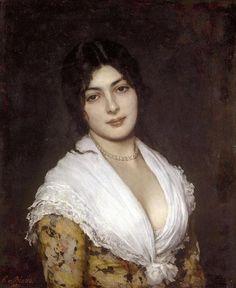 The Athenaeum - Young Italian Lady (Eugene de Blaas - Italian, 1843-1932)