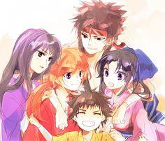 Tags: Anime, Rurouni Kenshin, Himura Kenshin, Sagara Sanosuke, Kamiya Kaoru, Myoujin Yahiko, Low Ponytail